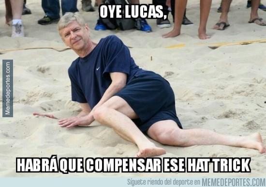 930537 - Arsene Wenger tras el hattrick de Lucas Pérez para el Arsenal