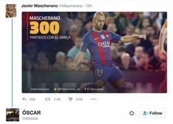 Enlace a La genial corrección de un aficionado a este tweet de Mascherano
