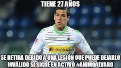 Enlace a Alvaro Domínguez se retira con apenas 27 años por lesión, una lástima