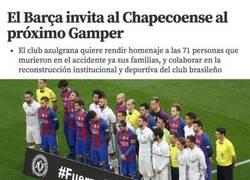 Enlace a Gran gesto del FC Barcelona con el Chapecoense