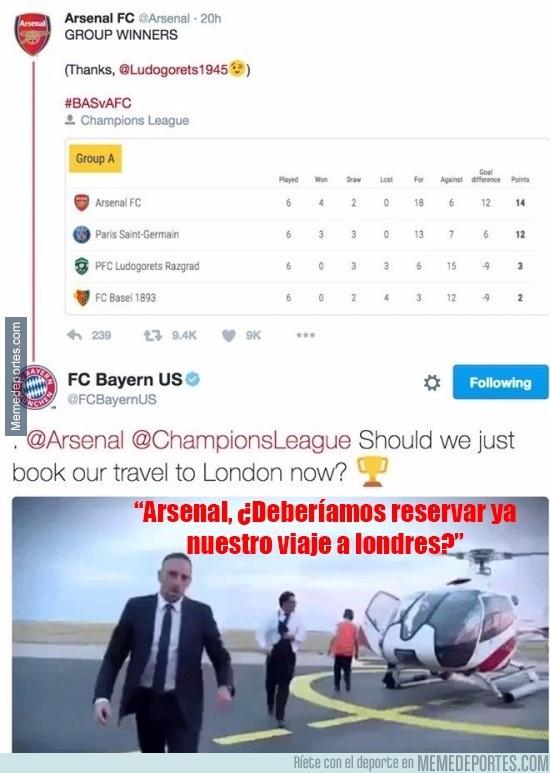 930972 - Zasca del Bayern al Arsenal antes del sorteo de Champions