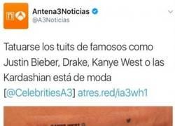 Enlace a Tatuarse los tuits de famosos como Justin Bieber o Drake está de moda, pero estos son mejores