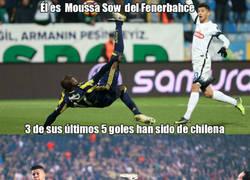 Enlace a Otro gol de Moussa Sow (Fenerbahce) de chilena y ya van 3 de los últimos 5 que ha marcado