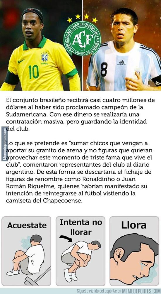 931084 - El motivo por el que Ronaldinho y Riquelme no ficharán por el Chapecoense