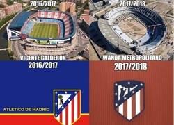 Enlace a El Atleti cambia estadio y escudo, ¿qué será lo próximo?