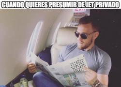 Enlace a Conor McGregor sube una foto vacilando de avión privado pero hace el FAIL del AÑO
