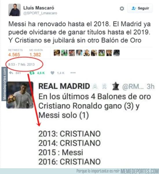 932486 - Repescan este tweet del gurú de Sport Lluís Mascaró y le dan su merecido