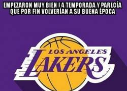 Enlace a Los Lakers no atraviesan su mejor momento de la temporada ni mucho menos...