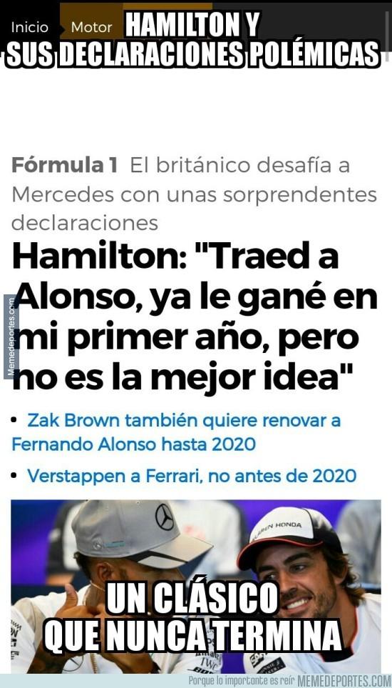 933086 - Hamilton le lanza una puya a Alonso con otra polémica declaración