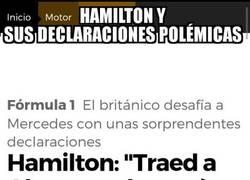 Enlace a Hamilton le lanza una puya a Alonso con otra polémica declaración