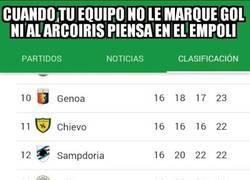 Enlace a El Empoli es el equipo menos goleador de las principales ligas europeas. Sólo 7 GOLES en 16 partido