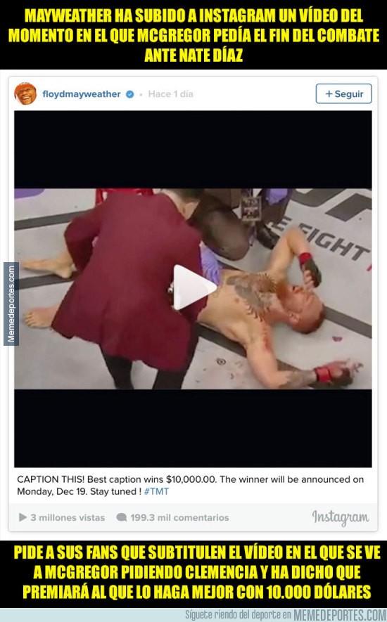 933296 - Mayweather humilla a McGregor en su Instagram y ofrece una recompensa de 10.000$