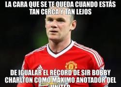 Enlace a Rooney está frustrado