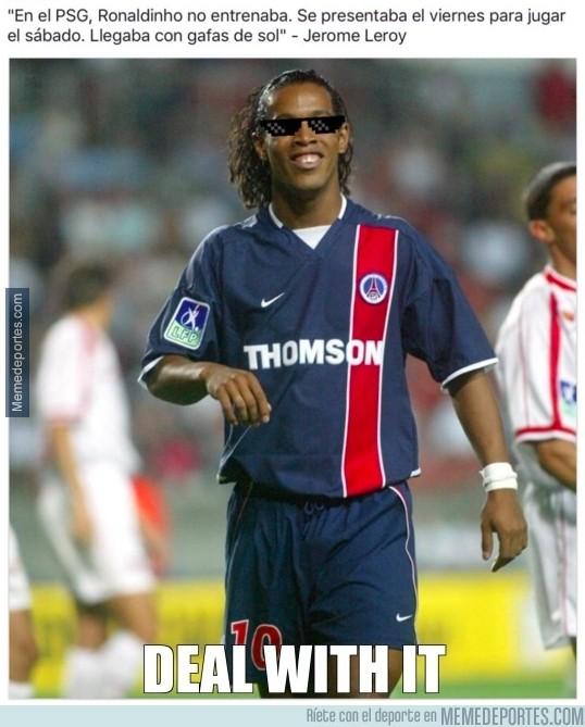 933546 - Ronaldinho no necesitaba entrenar en el PSG