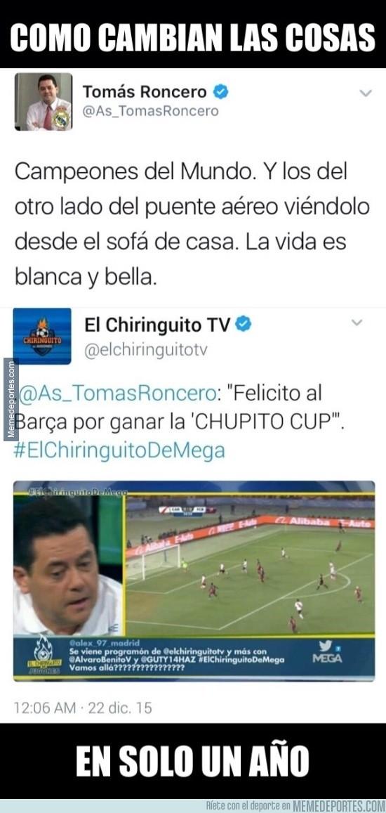 933721 - Tomás Roncero y su doble rasero con el Mundial de Clubes...