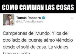 Enlace a Tomás Roncero y su doble rasero con el Mundial de Clubes...