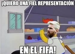 Enlace a Messi, el único jugador que es mejor en la vida real que en la PlayStation