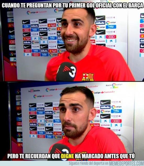 934548 - Alcácer feliz por su primer gol oficial con el Barça, pero....