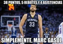Enlace a Partidazo de Marc Gasol ante los Pistons con estadísticas de escándalo