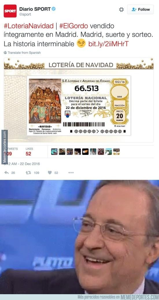 934567 - El Sport se va totalmente de la olla con este titular de la lotería y Madrid
