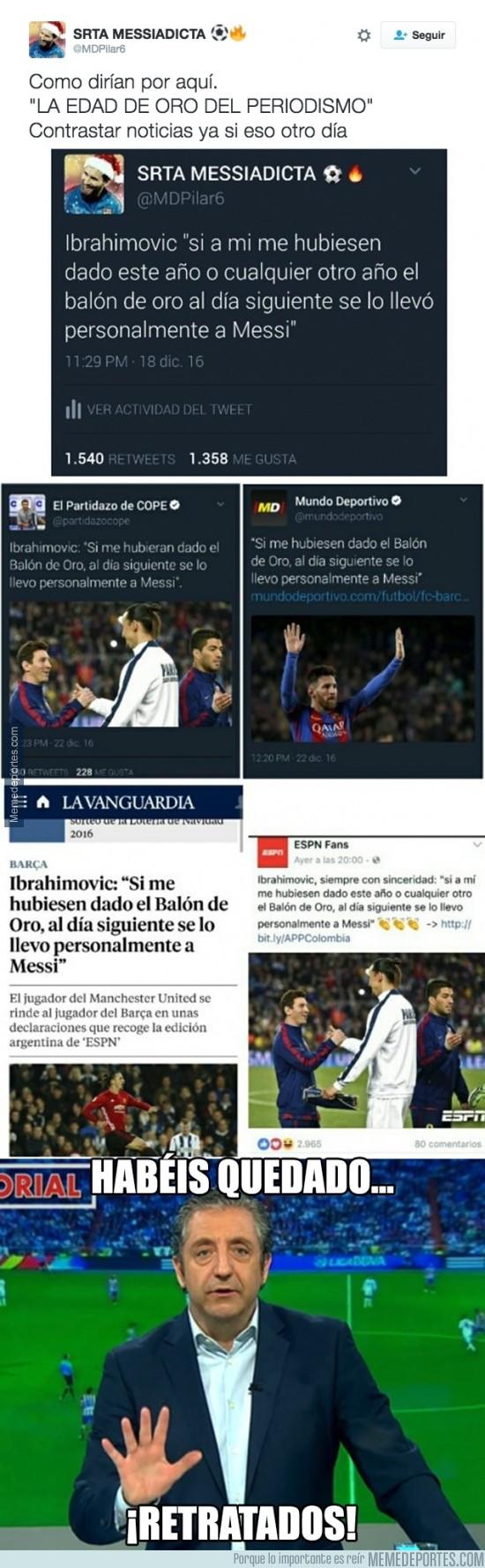 934572 - Usuaria de twitter se inventa noticia de Messi y todos los periódicos se lo tragan hasta el fondo