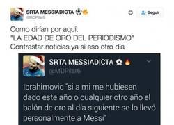 Enlace a Usuaria de twitter se inventa noticia de Messi y todos los periódicos se lo tragan hasta el fondo