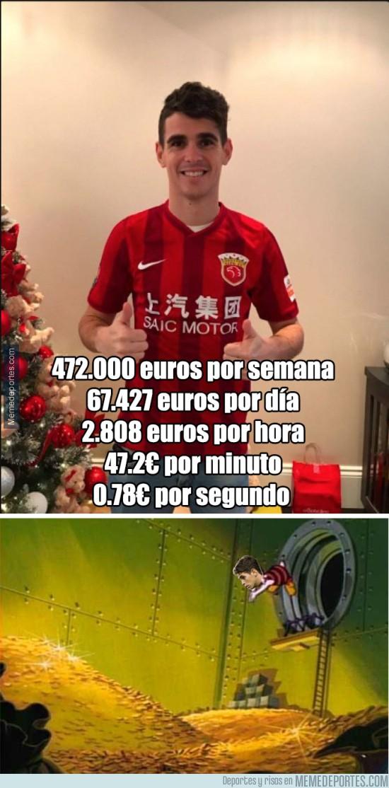 934773 - La increíble cifra que cobrará Oscar en el Shanghai SIPG de la Superliga China