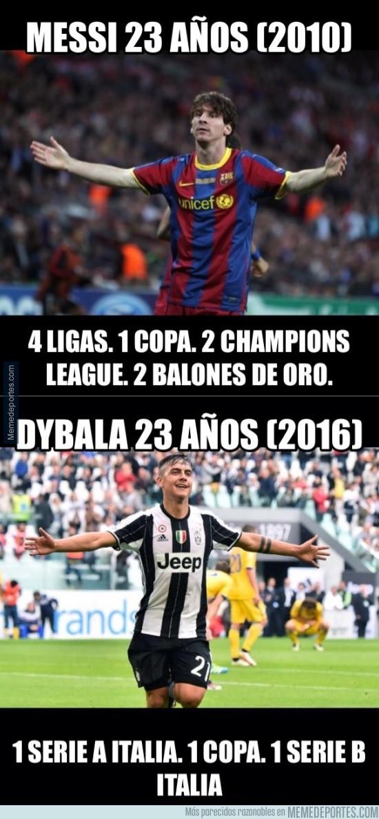 935170 - ¿Que Dybala es el nuevo Messi? Aún tiene que comer mucha verdura
