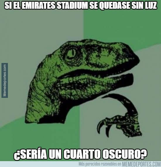 935227 - Si el Emirates Stadium se quedase sin luz...