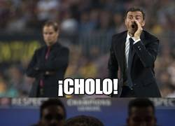 Enlace a Luis Enrique peinando al Cholo Simeone