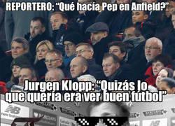 Enlace a La genial respuesta de Klopp a los periodistas cuando le preguntan por Guardiola
