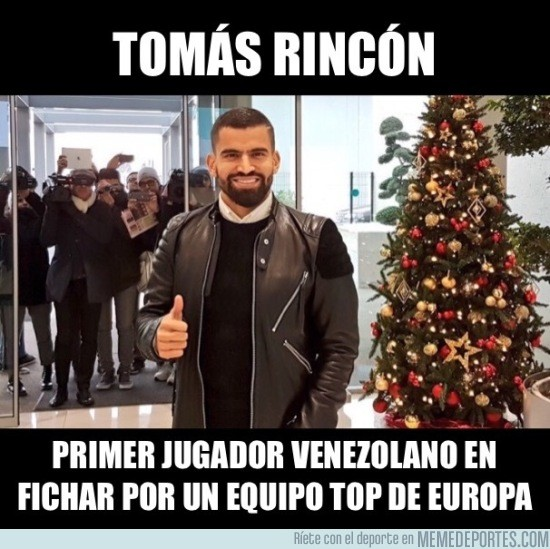 935446 - Tomás Rincón, primer refuerzo de la Juve en invierno. Orgullo Venezolano
