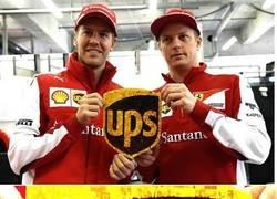 Enlace a Dickbutt encubierto en un patrocinador de Ferrari