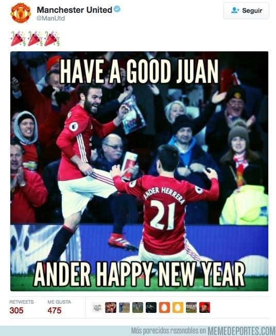 935992 - El United felicita el nuevo año a la española, ¡grandes!