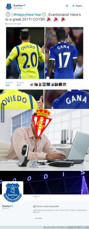 936077 - A los sportinguistas no les gusta el tweet del Everton