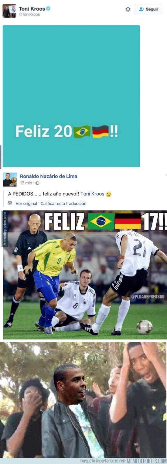 936106 - Ronaldo Nazario responde de forma brutal a Kroos tras su polémica felicitación de año nuevo
