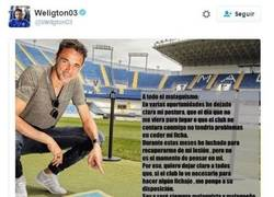 Enlace a Weligton emociona al malaguismo con un gesto desconocido en el mundo del fútbol