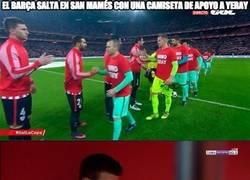 Enlace a Enorme gesto del Barça en San Mamés