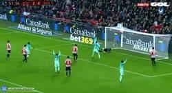 Enlace a GIF: Y Messi al rescate con gol de falta