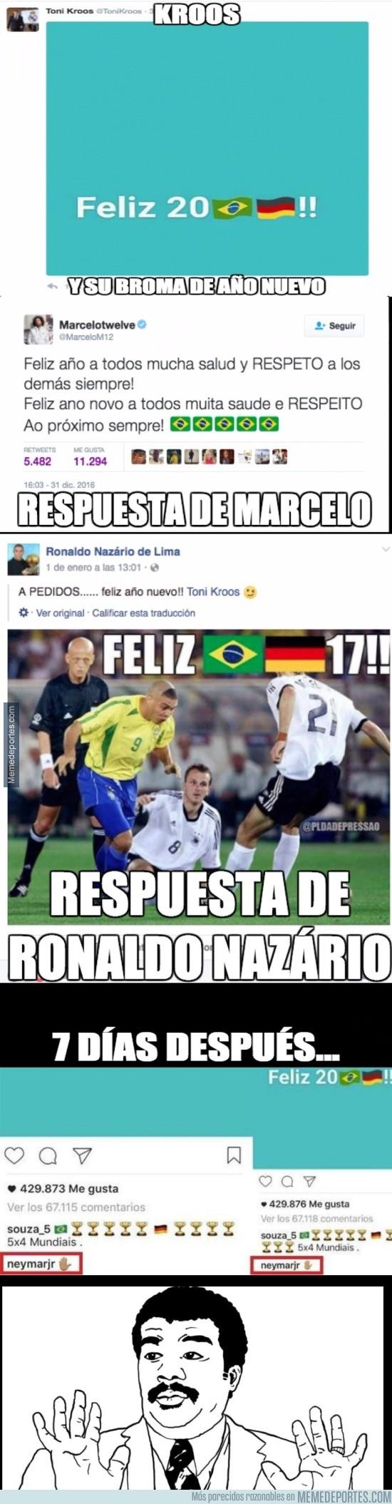 937608 - Neymar también responde a Kroos tras su felicitación de Año Nuevo