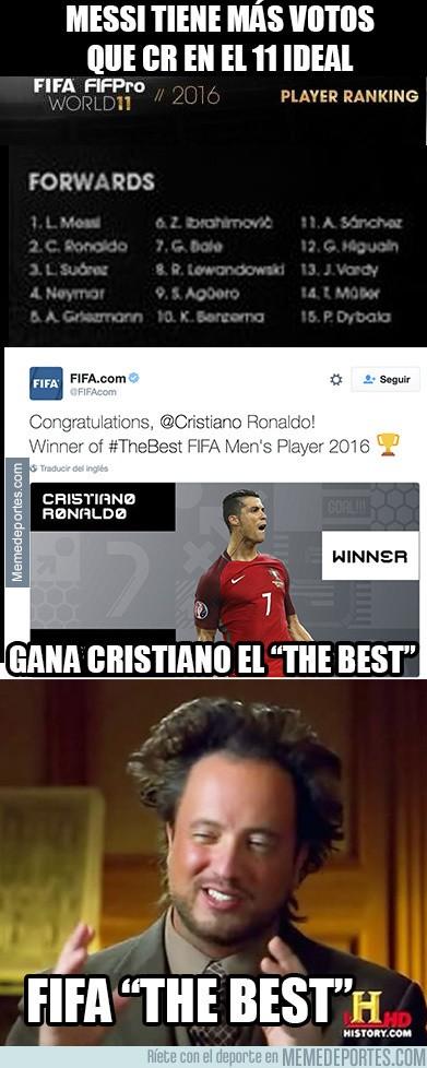 938137 - La FIFA y su coherencia para entregar el The Best a Cristiano Ronaldo