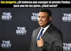 Enlace a Ronaldo se la saca con su respuesta a Eva Longoria