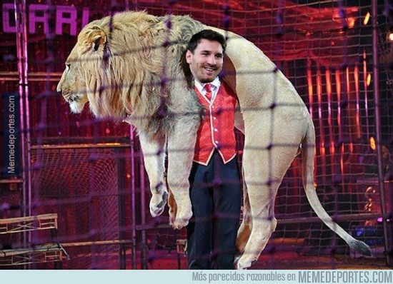 938730 - Después de esta eliminatoria contra el Athletic, se le conocerá como Messi el ''doma leones''