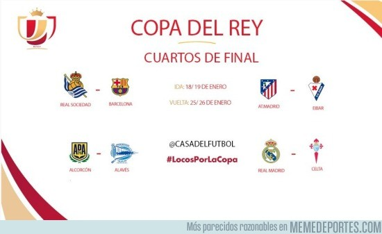 MEMEDEPORTES ] Así han quedado los cuartos de final de la Copa del ...