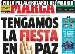 Enlace a La hipocresía de MARCA pidiendo paz en el fútbol