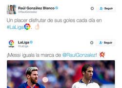 Enlace a Madridistas insultando a Raúl tras alabar a Messi en Twitter