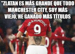 Enlace a Zlatan se comparó con el City pero olvidó cierto detalle