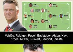 Enlace a El once ideal de cracks que Van Gaal hizo debutar