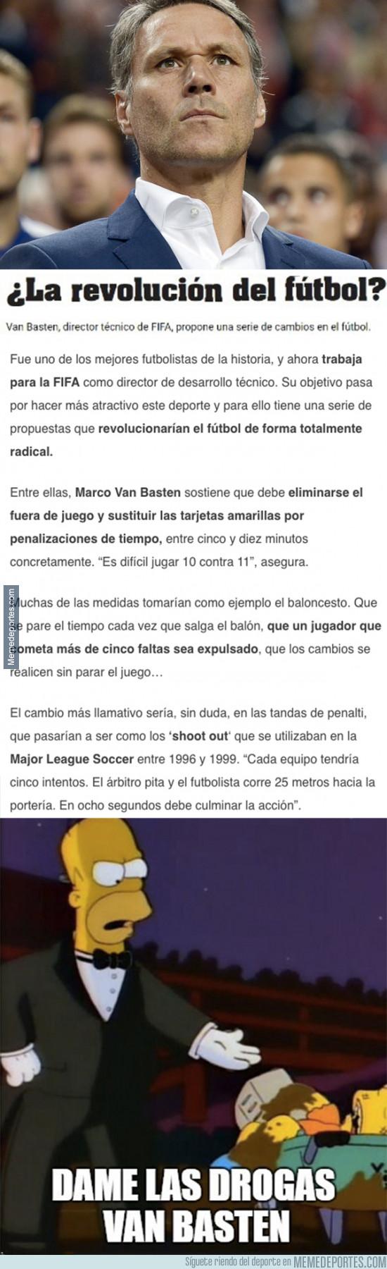 941128 - Las locas normas que quiere introducir Van Basten en el fútbol