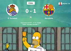 Enlace a El Barça ganando en Anoeta